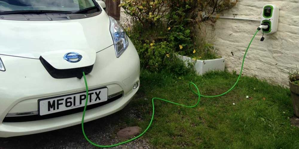 Electric Car Charging Holiday Cottage Brecon Beacons