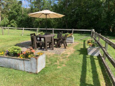 Bryniau Pell garden seating